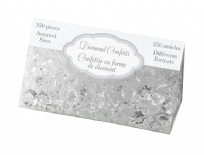 Clear Assorted Sized Diamond Table Crystals